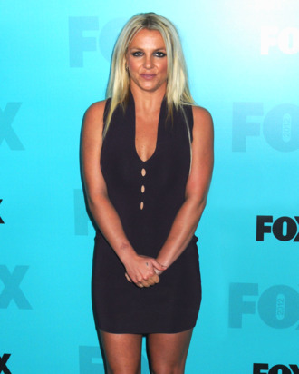 Britney Spears arrives on the black 'red carpet' for the FOX 2012 Programming Presentation Upfront