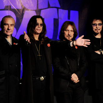 WEST HOLLYWOOD, CA - NOVEMBER 11: (L-R) Musicians Bill Ward, Ozzy Osbourne, Geezer Butler and Tony Iommi of Black Sabbath appear at a press conference to announce their first new album in 33 years and a world tour in 2012 at the Whiskey A Go-Go on November 11, 2011 in West Hollywood, California. (Photo by Kevin Winter/Getty Images)