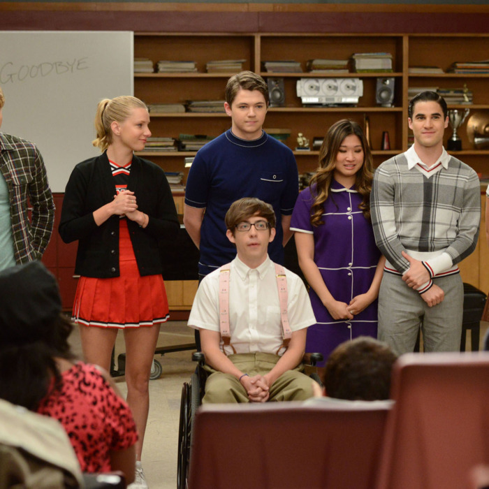 GLEE: Some of the glee club members perform for their Senior classmates in the