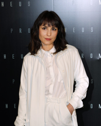 Swedish actress Noomi Rapace poses during a photocall for the Premiere of