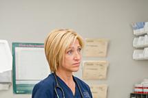 Edie Falco as Jackie Peyton in Nurse Jackie (Season 4, episode 7).