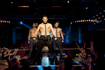 """(L-r) ADAM RODRIGUEZ as Tito, KEVIN NASH as Tarzan, CHANNING TATUM as Mike, and MATT BOMER as Ken in Warner Bros. Pictures' dramatic comedy """"MAGIC MIKE"""""""