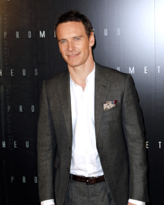 Irish-German actor Michael Fassbender poses during a photocall for the Premiere of