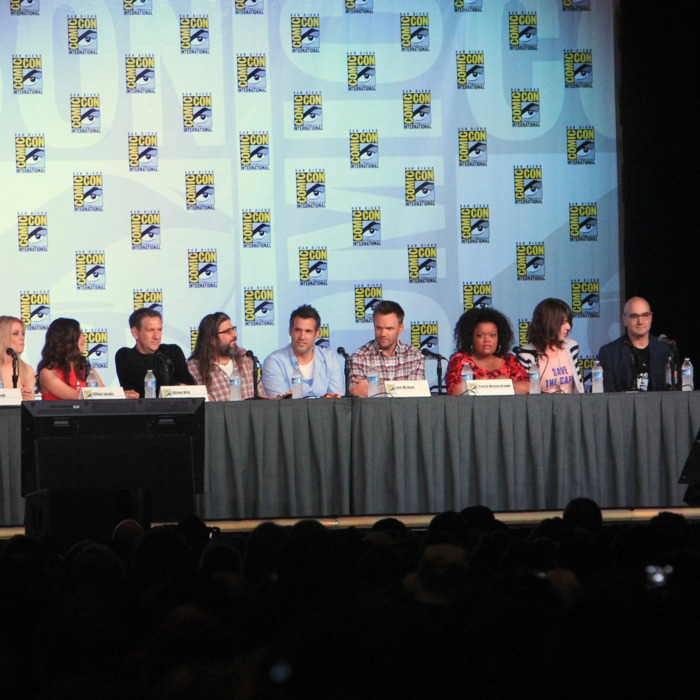 Cast of Community speak at