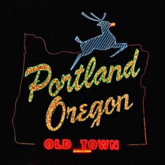 Portland Oregon - White Stag sign, Dec. 2010