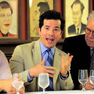 NEW YORK, NY - APRIL 15: Actress Jim Belushi, John Leguizamo and John Larroquette at the Drama Desk Panel Discussion:
