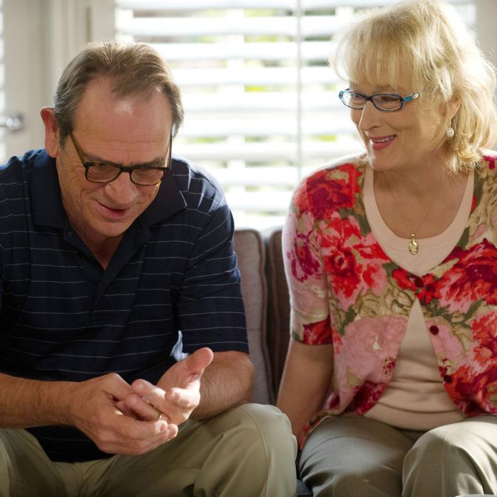 Arnold Soames (TOMMY LEE JONES) and Kay Soames (MERYL STREEP) in Columbia Pictures' HOPE SPRINGS.