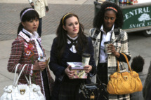 """Pilot""--  Nan Zhang as Kati, Leighton Meester as Blair, Nicole Fiscella as Isabel in GOSSIP GIRL on The CW."