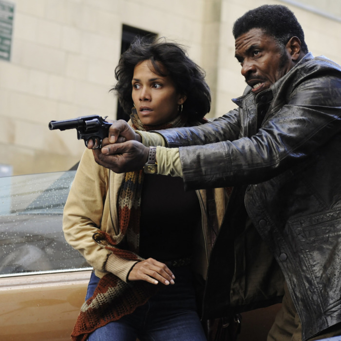 """(L-r) HALLE BERRY as Louisa Ray and KEITH DAVID as Joe Napier in the epic drama """"CLOUD ATLAS"""