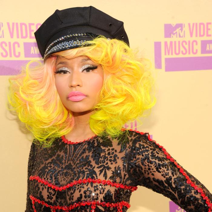 Nicki Minaj arrives at the 2012 MTV Video Music Awards at Staples Center on September 6, 2012 in Los Angeles, California.