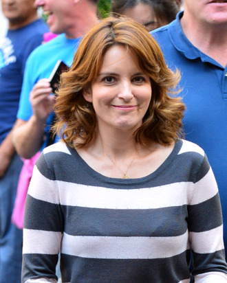NEW YORK, NY - AUGUST 28: Tina Fey filming on location for