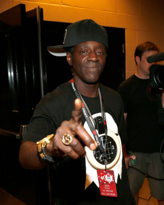 Rapper Flavor Flav appears backstage during the 2012 iHeartRadio Music Festival at the MGM Grand Garden Arena on September 21, 2012 in Las Vegas, Nevada.