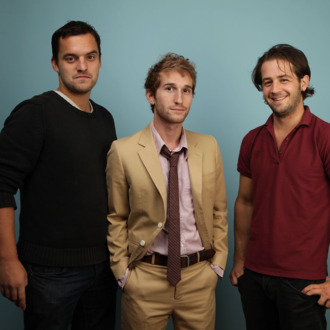 TORONTO, ON - SEPTEMBER 14: Actor Jake Johnson, director Max Winkler and actor Michael Angarano from