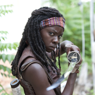 Michonne (Danai Gurira) - The Walking Dead - Season 3, Episode 1 - Photo Credit: Gene Page/AMC
