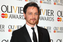 James McAvoy poses in the press room during the 2012 Olivier Awards at The Royal Opera House on April 15, 2012 in London, England.