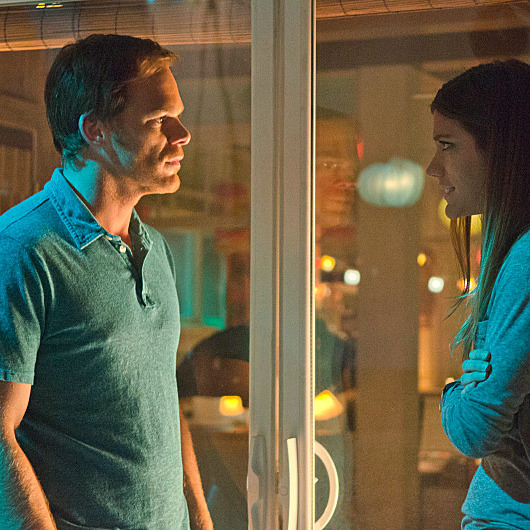 Jennifer Carpenter as Debra Morgan and Michael C. Hall as Dexter Morgan (Season 7, episode 8)