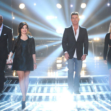 L.A. Reid, Demi Lovato, Simon Cowell, and Britney Spears