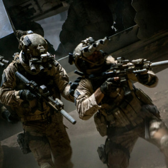 In the darkest hour of the night, elite Navy SEALs raid Osama Bin Laden's compound in Columbia Pictures' ultra realistic new thriller from director Kathryn Bigelow, about the greatest manhunt in history, ZERO DARK THIRTY.