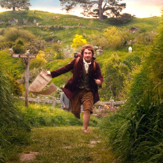 "MARTIN FREEMAN as the Hobbit Bilbo Baggins in the fantasy adventure ""THE HOBBIT: AN UNEXPECTED JOURNEY,"" a production of New Line Cinema and Metro-Goldwyn-Mayer Pictures (MGM), released by Warner Bros. Pictures and MGM."