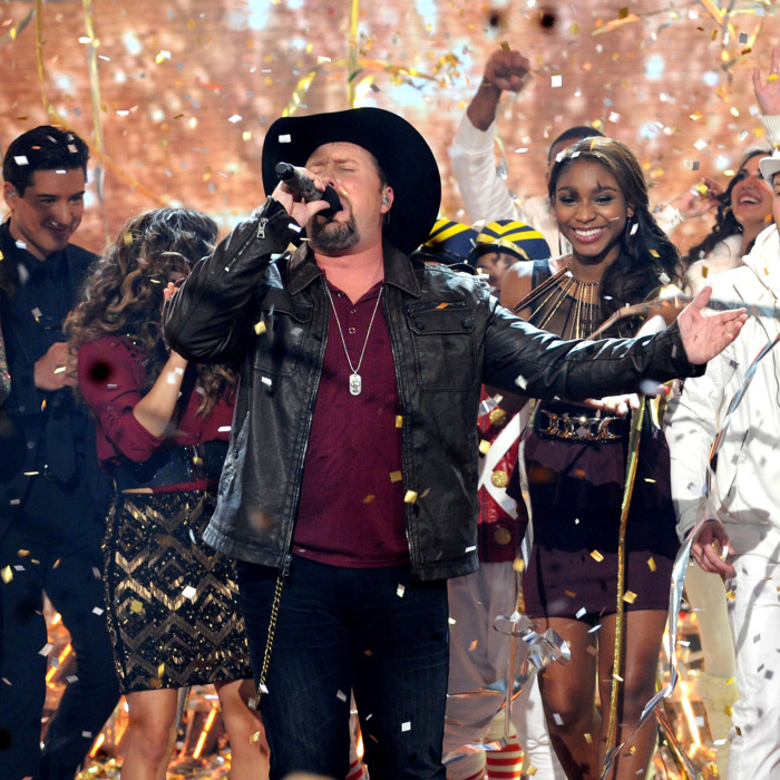 Winner Tate Stevens performs during FOX's