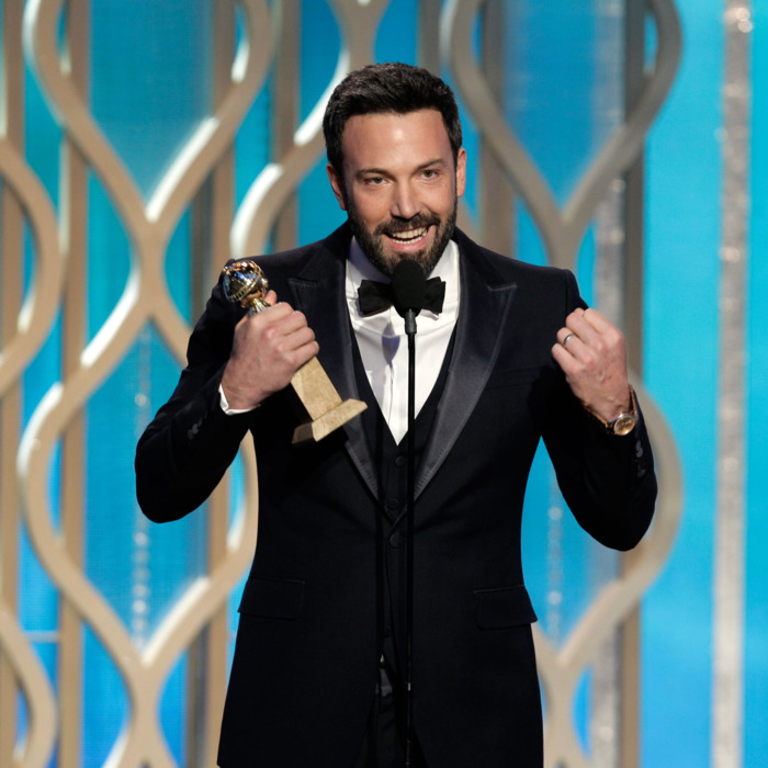 In this handout photo provided by NBCUniversal, Actor Ben Affleck accepts the Best Director award for Motion Picture,