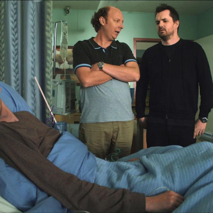 LEGIT -- Pilot -- Episode 1 (Series Premiere, Airs Thursday, January 17, 10:30 pm e/p) -- Pictured: (L-R) D.J. Qualls as Billy, Dan Bakkedahl as Steve, Jim Jefferies as Jim