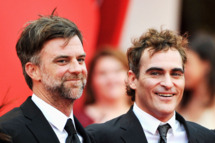 """Director Paul Thomas Anderson (L) and Joaquin Phoenix attends """"The Master"""" Premiere during The 69th Venice Film Festival at the Palazzo del Cinema on September 1, 2012 in Venice, Italy."""