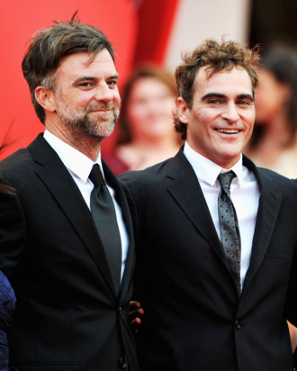 Director Paul Thomas Anderson (L) and Joaquin Phoenix attends
