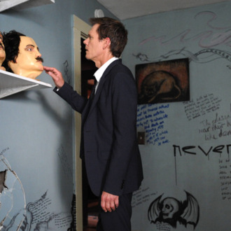 THE FOLLOWING: Ryan Hardy (Kevin Bacon) discovers the cult house in the