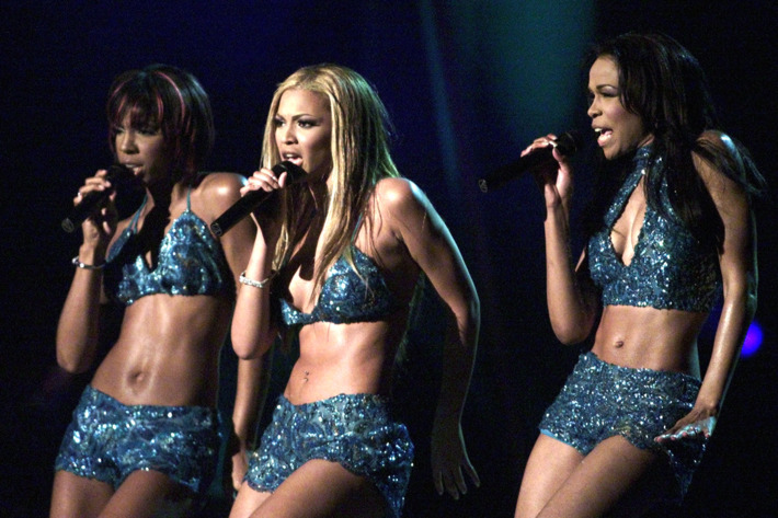 """""""Destiny's Child"""" perform their song """"Say My Name"""" at the 43rd annual Grammy Awards in Los Angeles February 21, 2001. """"Destiny's Child"""" won the Grammy Award for Best R&B Performance by a Duo or Group for the song."""