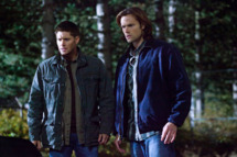 "Supernatural -- ""Torn and Frayed"" -- Pictured (L-R): Jensen Ackles as Dean and Jared Padalecki as Sam"