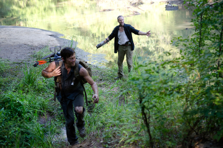 Daryl Dixon (Norman Reedus) and Merle Dixon (Michael Rooker) - The Walking Dead - Season 3, Episode 10