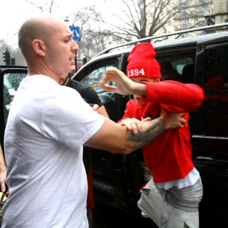 Justin Bieber leaving his central London hotel.