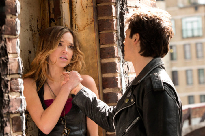 """The Vampire Diaries -- """"Because the Night"""" -- Pictured (L-R): Arielle Kebbel as Lexi and Ian Somerhalder as Damon"""