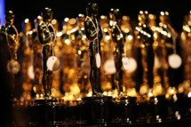 General view of the Oscar statues backstage during the Oscars held at the Dolby Theatre on February 24, 2013 in Hollywood, California.