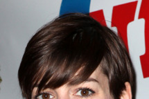 Anne Hathaway attending the Opening Night Performance of 'Ann' (Ann Richards) starring Holland Taylor at the Vivian Beaumont Theatre in New York City on 3/7/2013