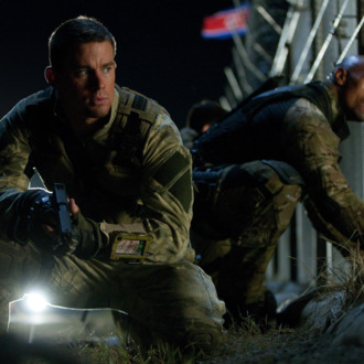 Left to right: Channing Tatum plays Duke and Dwayne Johnson plays Roadblock in G.I. JOE: RETALIATION, from Paramount Pictures, MGM, and Skydance Productions.GR-15405R