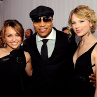 LOS ANGELES, CA - FEBRUARY 08:  (L-R) Singer Miley Cyrus, rapper/actor LL Cool J, and singer Taylor Swift arrive at the 51st Annual Grammy Awards held at the Staples Center on February 8, 2009 in Los Angeles, California.  (Photo by Larry Busacca/Getty Images) *** Local Caption *** Miley Cyrus;LL Cool J;Taylor Swift