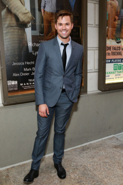 """Actor Andrew Rannells attends the """"The Assembled Parties"""" opening night at Samuel J. Friedman Theatre on April 17, 2013 in New York City."""