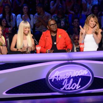 AMERICAN IDOL:` L-R: Keith Urban, Nicki Minaj, Randy Jackson and Maria Carey. CR: Michael Becker / FOX. Copyright: FOX.