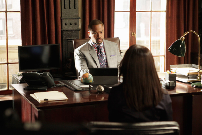 "SCANDAL - ""Any Questions?"" - The White House is in the middle of its biggest scandal to date and Cyrus is in the eye of the storm. Meanwhile, someone close to Olivia betrays her and the team, on ""Scandal,"" THURSDAY, MAY 9 (10:02-11:00 p.m., ET) on the ABC Television Network. (ABC/Nicole Wilder)         COLUMBUS SHORT"