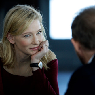 Cate Blanchett speaks with Sydney Theatre Company Artistic Director, Andrew Upton during the launch of 'Suncorp Twenties', a new theatre ticketing initiative on May 10, 2013 in Sydney, Australia.