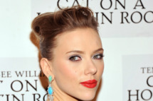 "Actress Scarlett Johansson attends the ""Cat On A Hot Tin Roof"" Broadway opening night after party at The Lighthouse at Chelsea Piers on January 17, 2013 in New York City."