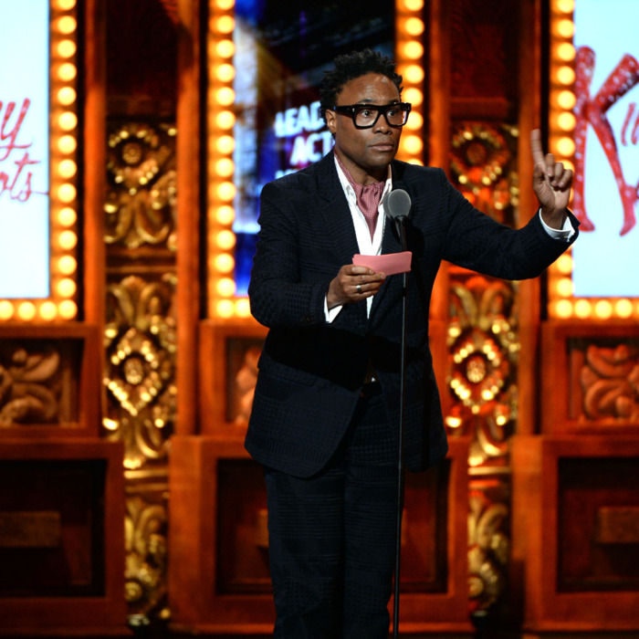 NEW YORK, NY - JUNE 09: Billy Porter accepts the Tony Award for Best Performance by an Actor in a Leading Role in a Musical for his role in