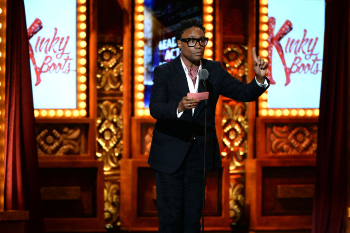 """NEW YORK, NY - JUNE 09: Billy Porter accepts the Tony Award for Best Performance by an Actor in a Leading Role in a Musical for his role in """"Kinky Boots"""" at The 67th Annual Tony Awards at Radio City Music Hall on June 9, 2013 in New York City.  (Photo by Andrew H. Walker/Getty Images for Tony Awards Productions)"""