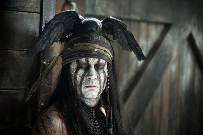 """""""THE LONE RANGER""""Johnny Depp as TontoPh: Peter Mountain?Disney Enterprises, Inc. and Jerry Bruckheimer Inc.  All Rights Reserved."""