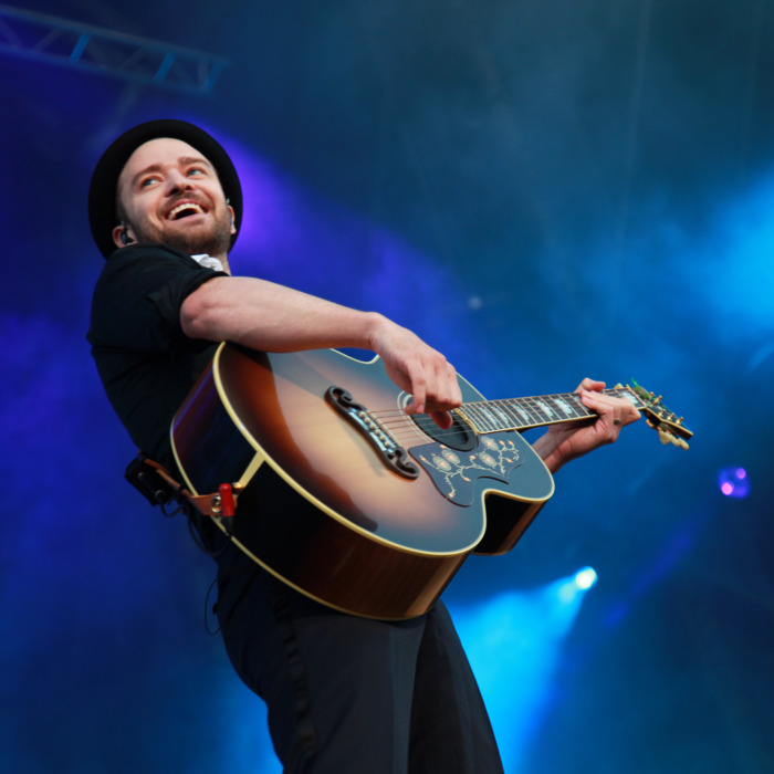 Justin Timberlake performs at Phoenix Park on July 10, 2013 in Dublin, Ireland.