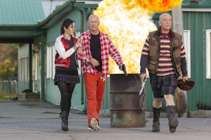 (L-R) MARY-LOUISE PARKER, BRUCE WILLIS and JOHN MALKOVICH star in RED 2Ph: Jan Thijs? 2013 Summit Entertainment, LLC.  All rights reserved.