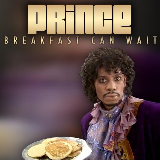 Dave Chappelle, as Prince, on the cover of a Prince single.