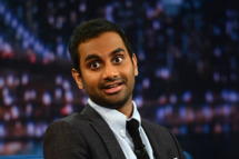 "Aziz Ansari visits ""Late Night With Jimmy Fallon"" at Rockefeller Center on May 21, 2013 in New York City."